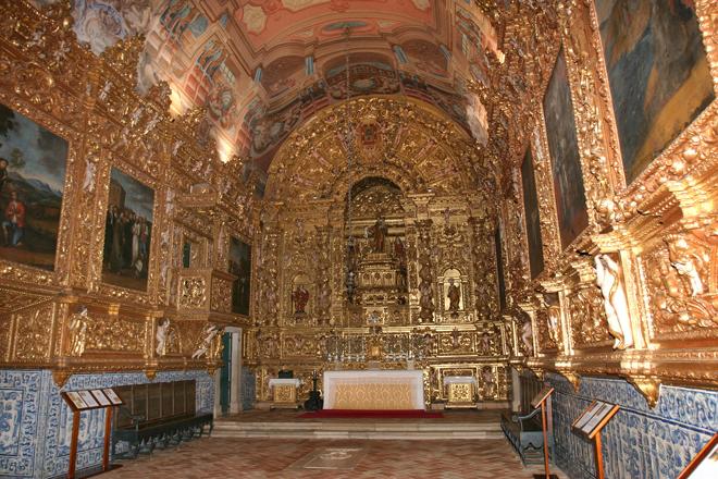 Interior da igreja de Santo António, em Lagos