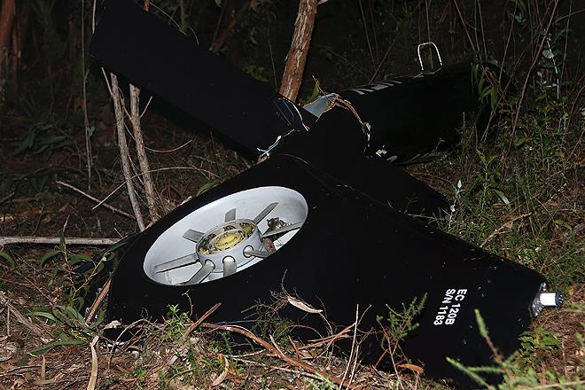 Destroços do aparelho acidentado  © Luís Forra/Lusa