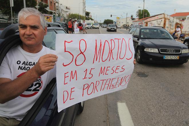 João Vasconcelos, da Comissão de Utentes da Via do Infante © Luís Forra/Lusa