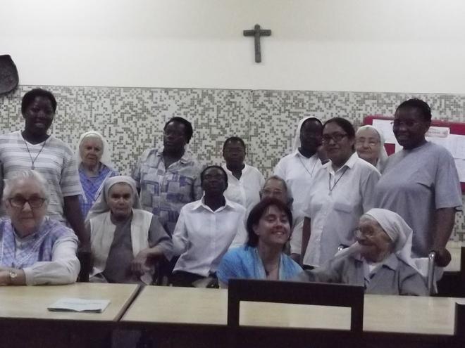 Missão de Ana Poupino em 2013 em Angola.
